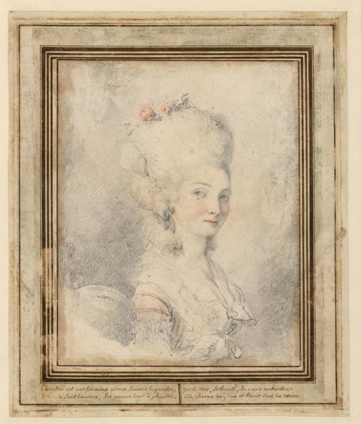 anonyme : Portrait de Christina Antonio Somis, épouse de C Van Loo, Portrait de jeune femme (inventaire)