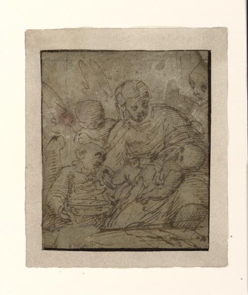 Vierge allaitant l'enfant