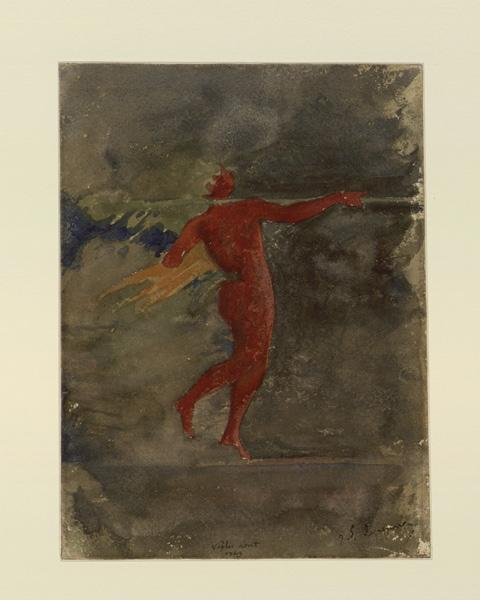Pompéi, d'après les fresques : silène funambule_0