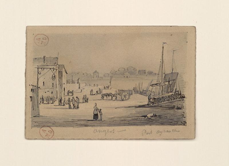 HAWKE Peter (dessinateur) : Angers, port Ayrault