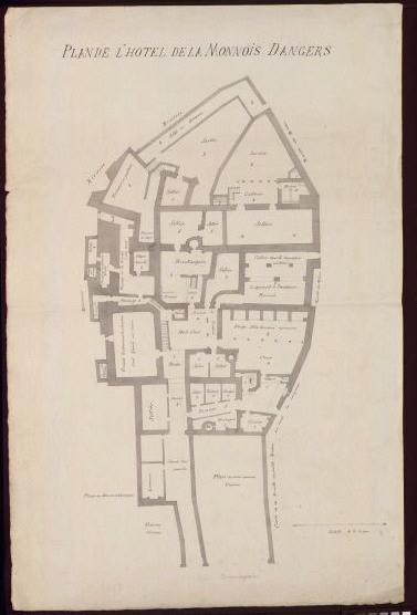 Plan de l'hôtel de la Monnois (sic) d'Angers_0