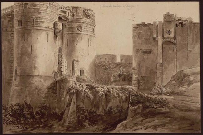 Vieux château fort à Angers