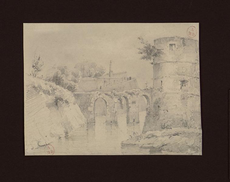 anonyme (dessinateur) : Tour du château d'Angers