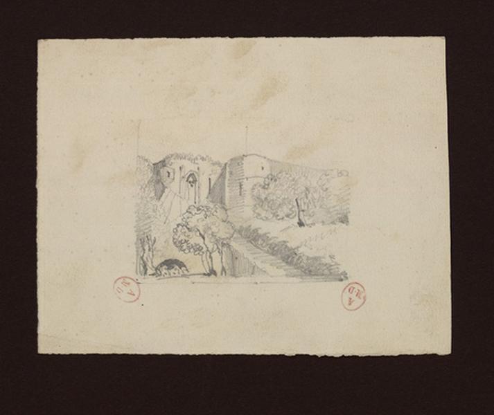 anonyme (dessinateur) : Le château de Fath (Ecosse)