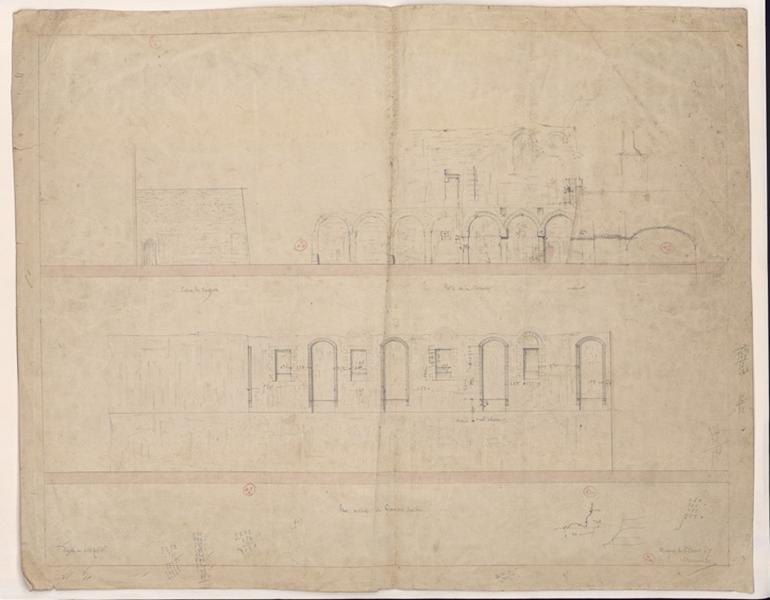 MAILLARD Auguste Alfred (dessinateur, architecte) : La salle du palais des comtes (Titre de C. Labalte)