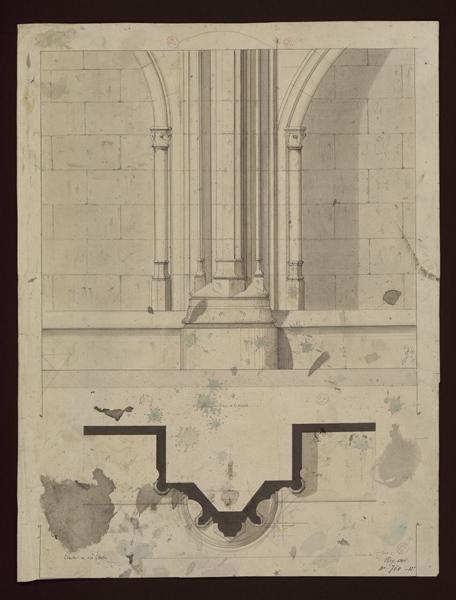 MAILLARD Auguste Alfred (architecte) : Détails des piliers de la chapelle