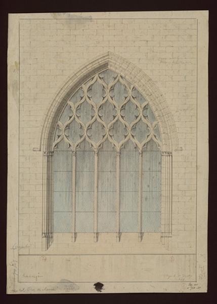 MAILLARD Auguste Alfred (architecte) : Chapelle - Elévation d'une baie