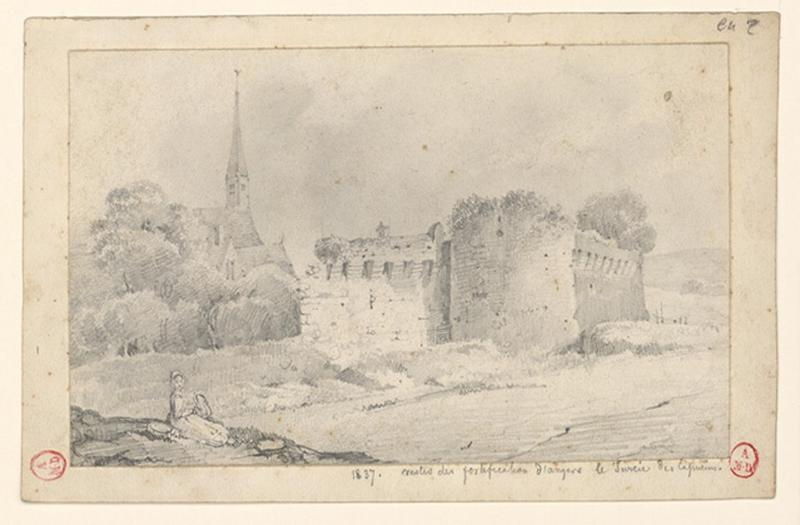 HAWKE Peter (dessinateur) : Restes des fortifications d'Angers