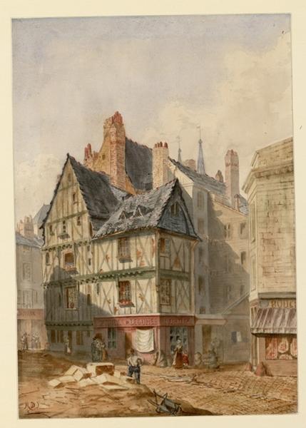 Rue Chaussée-Saint-Pierre en 1872 (Titre de C. Labalte)