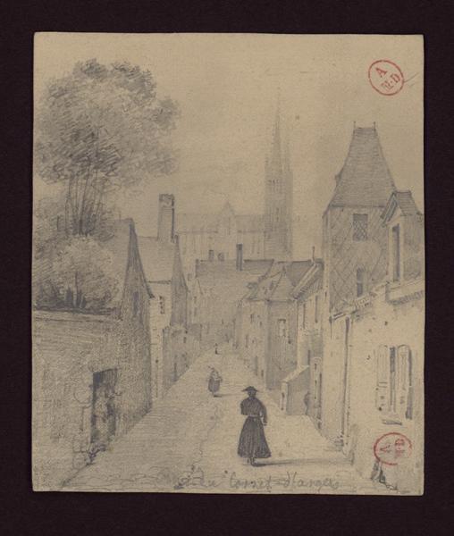 HAWKE Peter (d'après, dessinateur), anonyme (dessinateur) : Rue du Cornet d'Angers