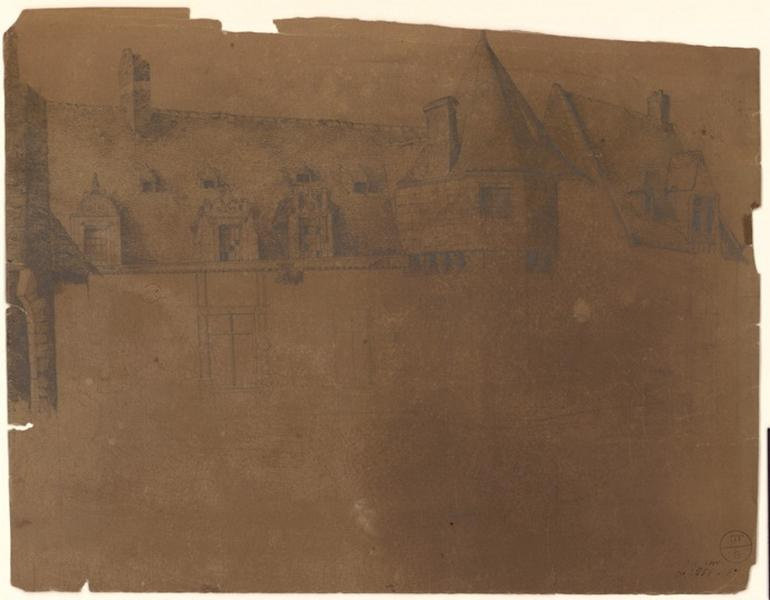 anonyme (dessinateur) : Hôtel des Pénitentes, du côté du boulevard Descazeaux (Titre de C. Labalte)