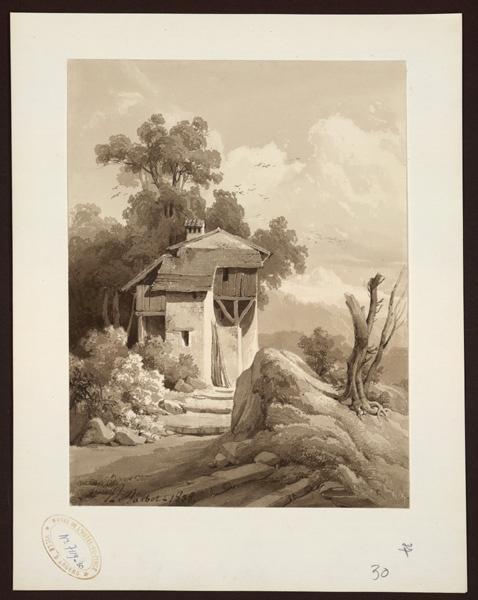 Habitation en haut d'un escalier dans la campagne_0