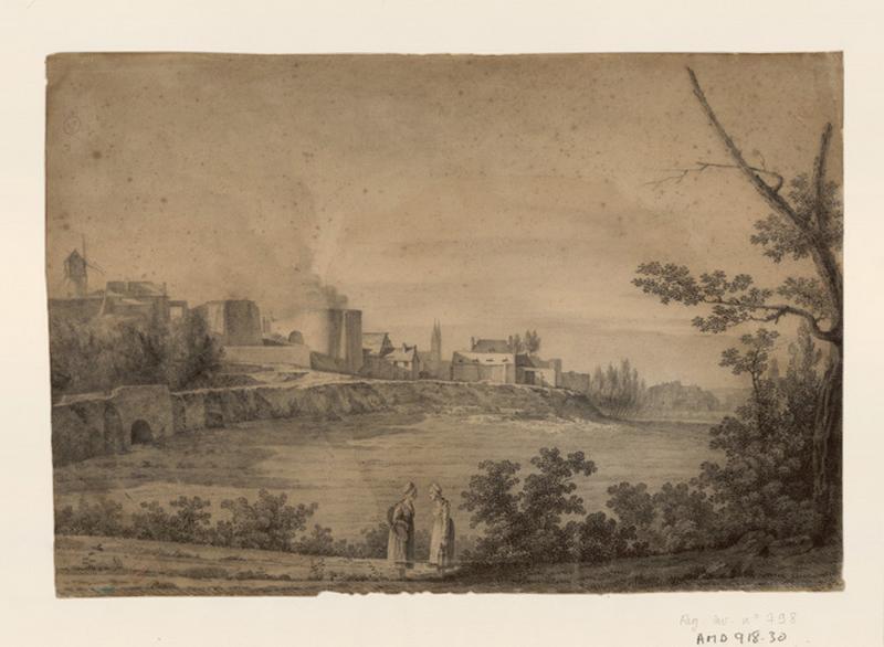 Angers, les fours à chaux, vue prise de Tivoli