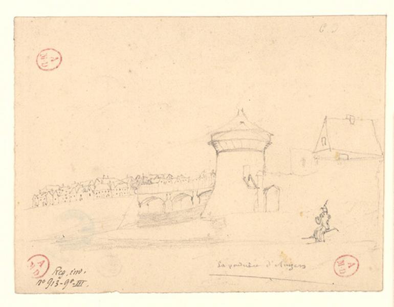 anonyme (dessinateur) : La poudrière d'Angers