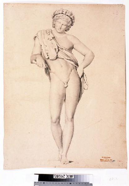 anonyme : Etude d'après une statue antique