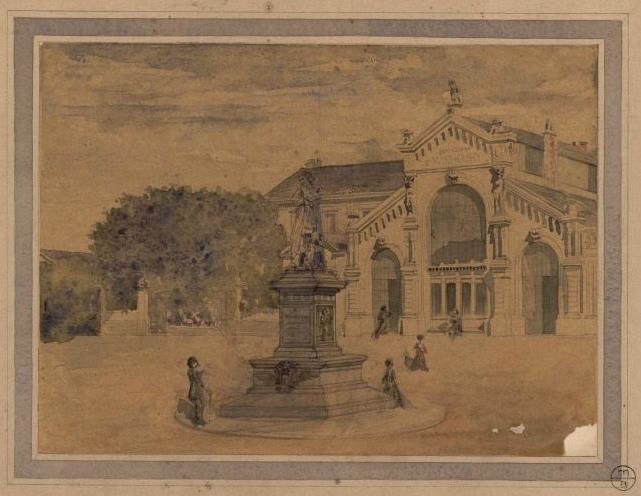 Place Lorraine, statue de David d'Angers