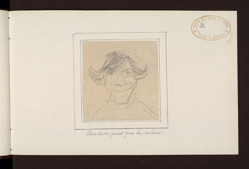 BOUCHOT François (dessinateur) : Autoportrait (titre factice)