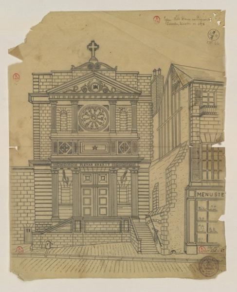 Eglise Notre-Dame rue Pocquet-de-Livonière [sic]
