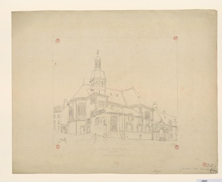 Eglise Notre-Dame (ancienne) démolie en juin 1898