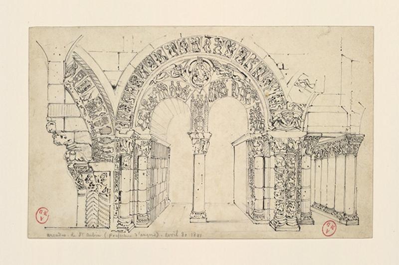 HAWKE Peter (dessinateur) : Arcades de Saint-Aubin (préfecture d'Angers)