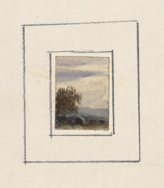 CICERI Pierre Luc Charles (dessinateur) : Paysage d'Italie