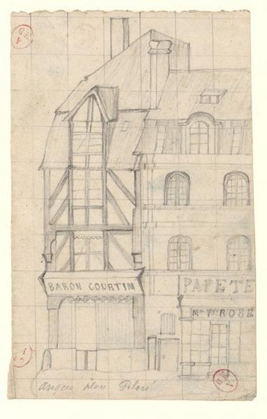 anonyme (dessinateur) : Angers, place Pilori