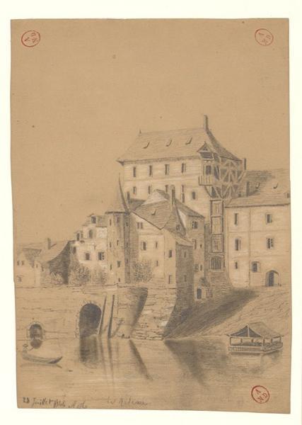 MICHEL Auguste Père (dessinateur) : Le Rideau