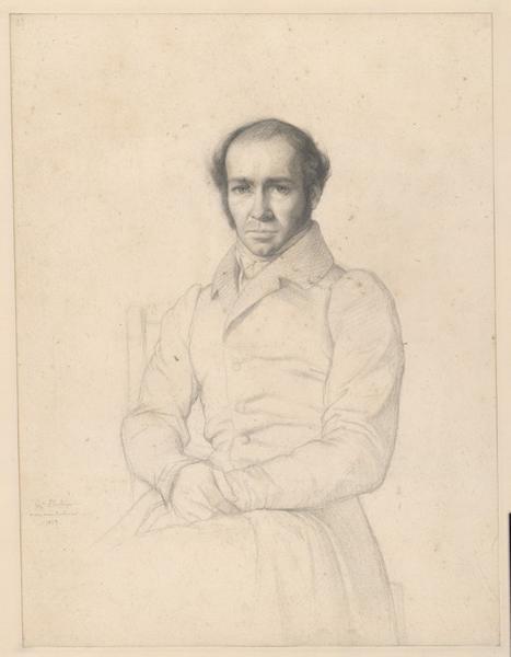 FLANDRIN Hippolyte Jean (dessinateur, peintre) : Portrait de Guillaume Bodinier