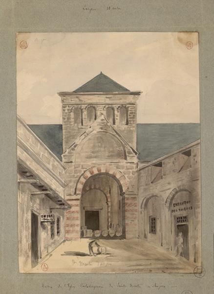 anonyme (dessinateur) : Ruines de l'église carolingienne de Saint-Martin d'Angers