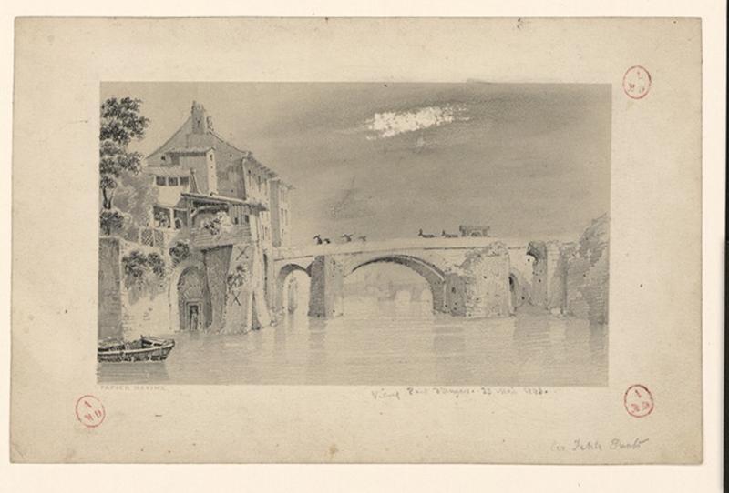 HAWKE Peter (dessinateur) : Vieux pont d'Angers