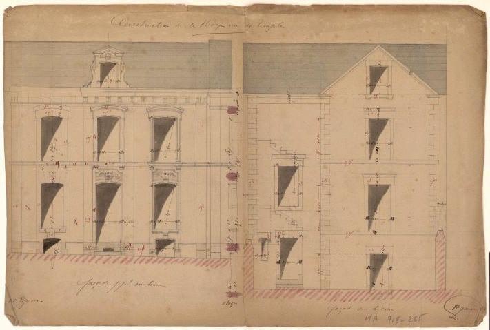Construction de M. Royer rue du Temple (ou de M. Morge ?)_0