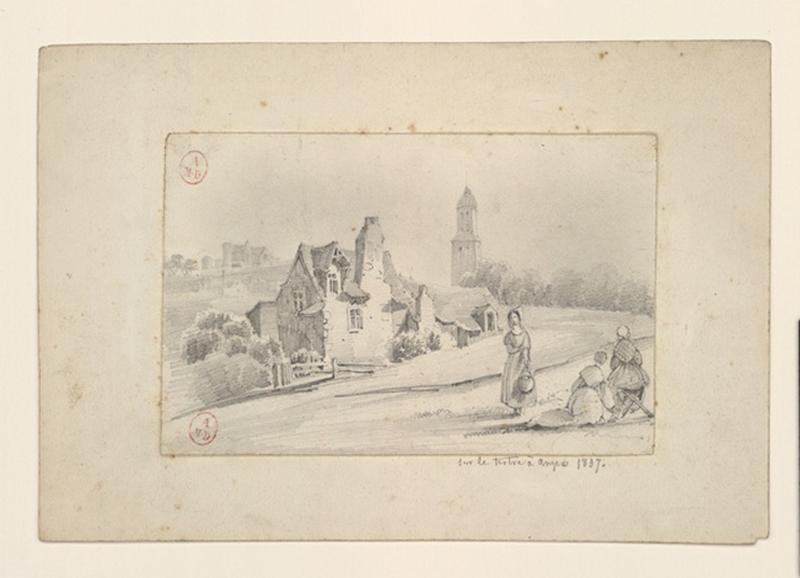 HAWKE Peter (dessinateur) : Sur le tertre à Angers