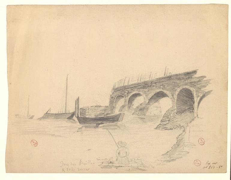 MICHEL Auguste Père (dessinateur) : Pont des Treilles et voie neuve