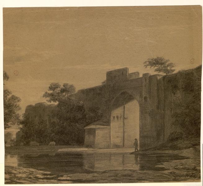 LEBIEZ Louis René : Pont des Treilles côté de la rue Saint-Jean