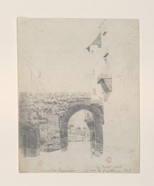 Canal des Tanneries - Les petits ponts et pont des Treilles au fond