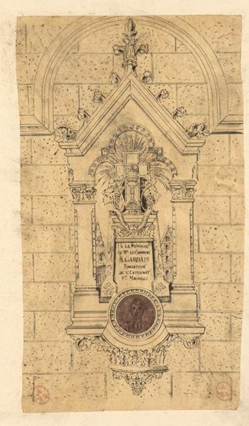 Cénotaphe à la mémoire du chanoine Gardais, fondateur de l'externat Saint-Maurille