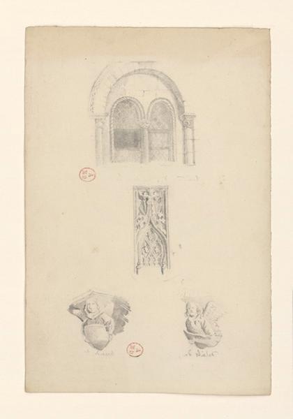 Eglise de la Trinité, détails de motifs sculptés