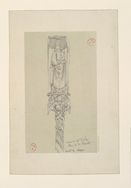 HAWKE Peter (dessinateur) : Vierge du XVIe siècle rue de la Trinité
