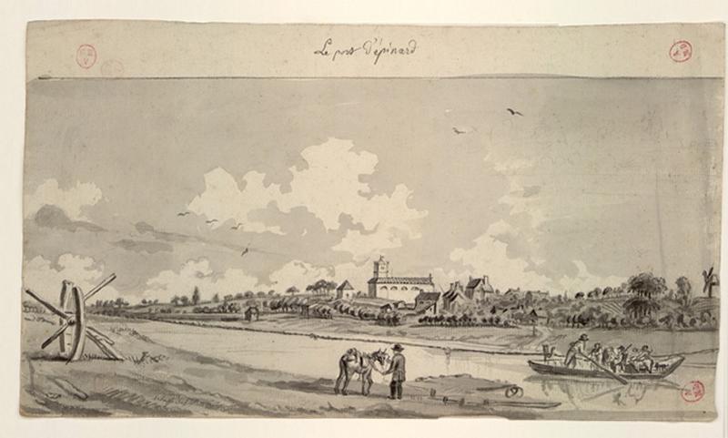 DELUSSE Jean-Jacques (dessinateur) : Le port d'Epinard
