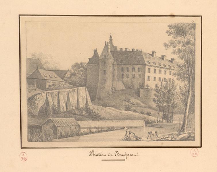 DUBOIS Julie Marthe (dessinateur) : Château de Beaupréau