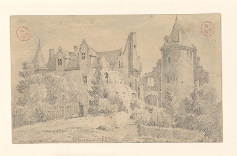 HAWKE Peter (dessinateur) : Château de Blaison