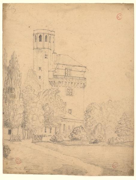 anonyme (dessinateur) : Tour du château de la Bourgonnière