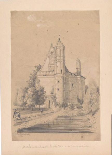 Façade de la chapelle du château de la Bourgonnière_0