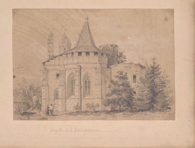 Chevet de la chapelle de la Bourgonnière (Titre de M. Bardelot)