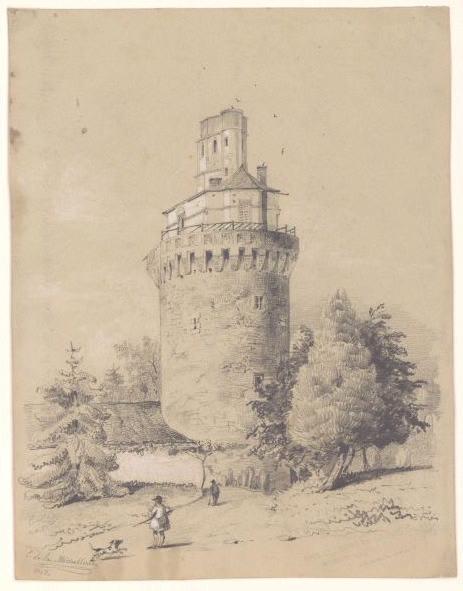 Tour et donjon du château de la Bourgonnière (Au recto)_0