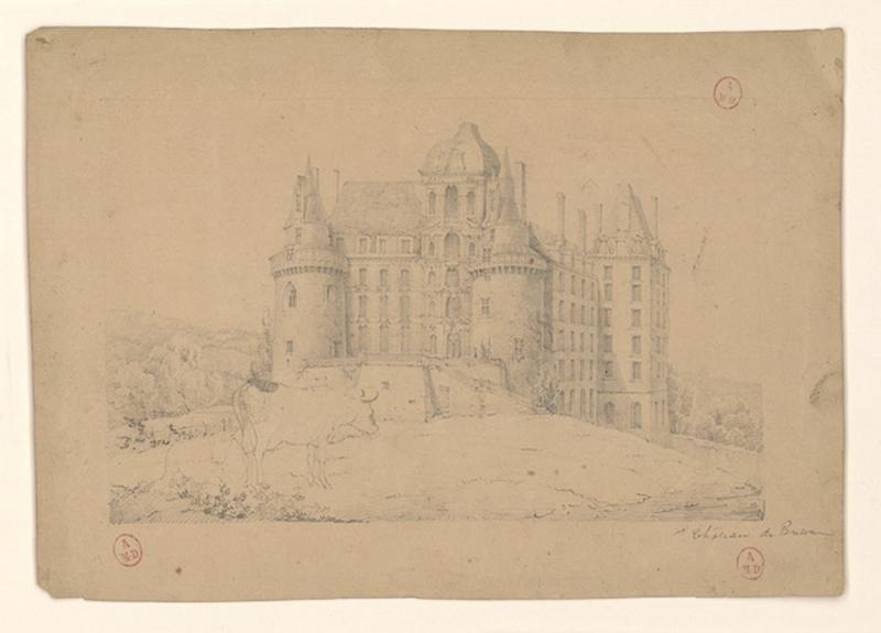 HAWKE Peter (attribué, dessinateur) : Château de Brissac