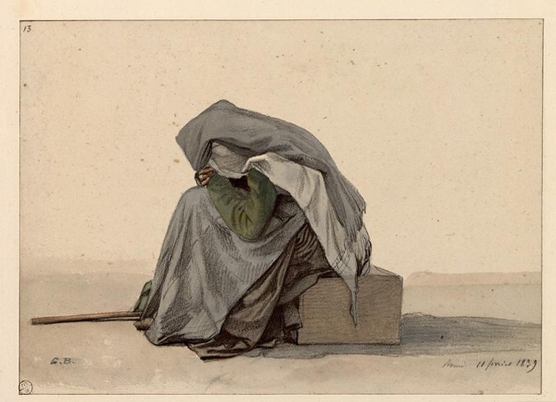 BODINIER Guillaume (dessinateur) : Vieille femme assise