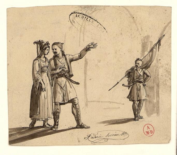 SORRIEU Frédéric (dessinateur) : Trois personnages grecs modernes