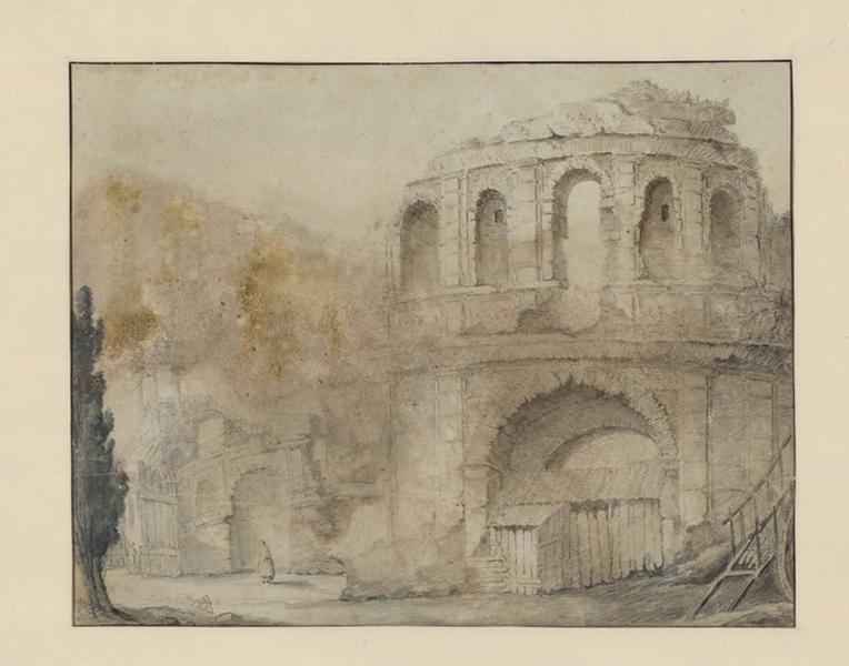 Vue du palais Gallien à Bordeaux
