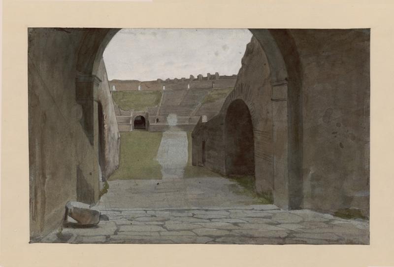 LENEPVEU Jules Eugène (dessinateur) : Amphithéâtre de Pompéi